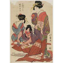 昇亭北壽: Ôiso no Tora and Kajiwara Heizô - ボストン美術館