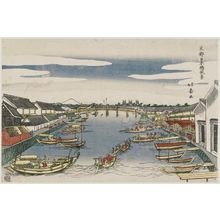 Shotei Hokuju: View of Nihonbashi Bridge (Nihonbashi fûkei), from the series The Eastern Capital (Tôto) - Museum of Fine Arts