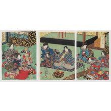 Utagawa Kunisada: Koto (Kin), from the series The Four Accomplishments (Kinkishoga no uchi) - Museum of Fine Arts