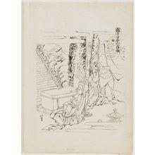 Katsushika Hokusai: Act 1 (tracing) Kanadehon Chushingura - Museum of Fine Arts