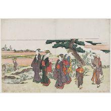 Katsushika Hokusai: On the Way to the Meguro Fudô Hall - Museum of Fine Arts