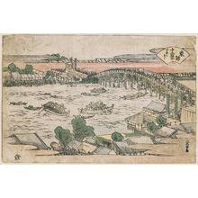 葛飾北斎: Ryôgoku, from the series Twelve Views of the Eastern Capital (Tôto jûni kei) - ボストン美術館