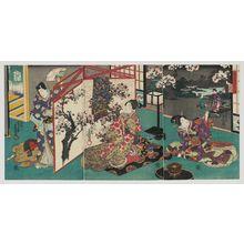 Utagawa Kunisada: Flowers (Hana), from the series Flowers and Birds, Wind and Moon (Kachô fûgetsu no uchi) - Museum of Fine Arts