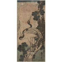 Katsushika Taito II: Cranes, Pine Tree, and Rising Sun - ボストン美術館