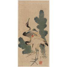 Katsushika Taito II: Cranes and Pine Shoots - ボストン美術館