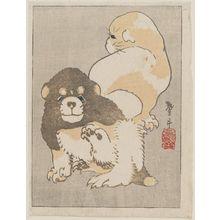 Katsushika Taito II: Puppies - ボストン美術館