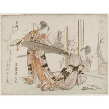 Katsushika Hokusai: Two Women with a Koto - Museum of Fine Arts