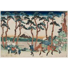 葛飾北斎: Hodogaya on the Tôkaidô (Tôkaidô Hodogaya), from the series Thirty-six Views of Mount Fuji (Fugaku sanjûrokkei) - ボストン美術館