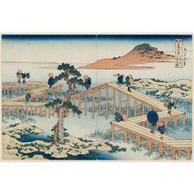 Katsushika Hokusai: Old View of the Eight-part Bridge at Yatsuhashi in Mikawa Province (Mikawa no Yatsuhashi no kozu), from the series Remarkable Views of Bridges in Various Provinces (Shokoku meikyô kiran) - Museum of Fine Arts