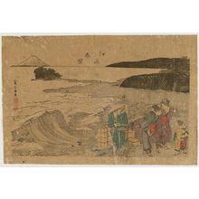 葛飾北斎: Spring at Enoshima (Enoshima shunbô), from the album The Threads of the WIllow (Yanagi no ito) - ボストン美術館