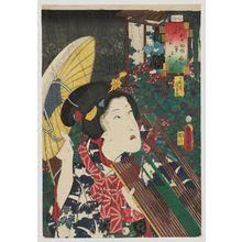 Utagawa Kunisada: No. 30, Fujibakama: Actor Ichikawa Monnosuke III, from the series Fifty-four Chapters of Edo Purple (Edo murasaki gojûyo-jô) - Museum of Fine Arts