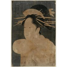 Chokosai Eisho: Somenosuke of the Matsubaya, from the series Contest of Beauties of the Pleasure Quarters (Kakuchû bijin kurabe) - Museum of Fine Arts
