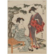 Torii Kiyonaga: Sunset Glow of Late Summer (Chôka no sekisho), from the series Eight Views of the Four Seasons (Shiki hakkei) - Museum of Fine Arts