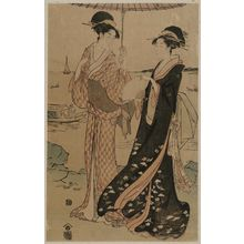 Hosoda Eishi: Women Strolling at Takanawa - Museum of Fine Arts