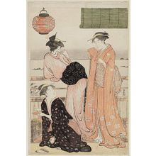 鳥居清長: The Sixth Month, from the series Twelve Months in the South (Minami jûni kô) - ボストン美術館