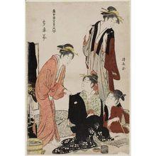 Torii Kiyonaga: The Southeast (Tatsumi), from the series Contest of Contemporary Beauties of the Pleasure Quarters (Tôsei yûri bijin awase) - Museum of Fine Arts