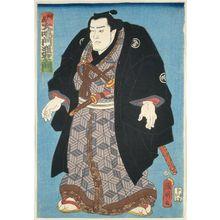 Utagawa Kuniaki: Sumô Wrestler Ônaruto Nadaemon of Awa Province (Ashû Ônaruto Nadaemon) - Museum of Fine Arts