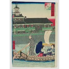 三代目歌川広重: Evening Bell at the Tsukiji Hotel (Hoteru-kan no banshô), from the series Pride of Tokyo: Eight Views of Famous Places (Tôkyô jiman meisho hakkei) - ボストン美術館