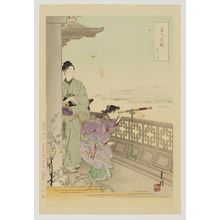 Ogata Gekko: from the series Competition of Beauties and Flowers (Bijin hana awase) - Museum of Fine Arts