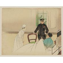 梶田半古: The Hospital Room - ボストン美術館