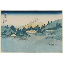 Katsushika Hokusai: Reflection in Lake Misaka, Kai Province (Kôshû Misaka suimen), from the series Thirty-six Views of Mount Fuji (Fugaku sanjûrokkei) - Museum of Fine Arts