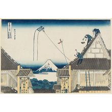 Katsushika Hokusai: The Mitsui Shop at Suruga-chô in Edo (Kôto Suruga-chô Mitsui-mise ryakuzu), from the series Thirty-six Views of Mount Fuji (Fugaku sanjûrokkei) - Museum of Fine Arts