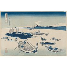 Katsushika Hokusai: Tsukuda-jima [in Edo] in Musashi Province (Buyô Tsukuda-jima), from the series Thirty-six Views of Mount Fuji (Fugaku sanjûrokkei) - Museum of Fine Arts
