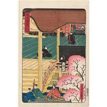 Utagawa Yoshimori: Kyoto: Attendance at Court (Kyôto, sandai), from the series Scenes of Famous Places along the Tôkaidô Road (Tôkaidô meisho fûkei), also known as the Processional Tôkaidô (Gyôretsu Tôkaidô) - ボストン美術館