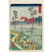 Utagawa Yoshimori: Hamamatsu, from the series Scenes of Famous Places along the Tôkaidô Road (Tôkaidô meisho fûkei), also known as the Processional Tôkaidô (Gyôretsu Tôkaidô), here called Tôkaidô - ボストン美術館