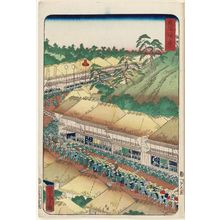 歌川芳虎: Fujikawa, from the series Scenes of Famous Places along the Tôkaidô Road (Tôkaidô meisho fûkei), also known as the Processional Tôkaidô (Gyôretsu Tôkaidô), here called Tôkaidô - ボストン美術館