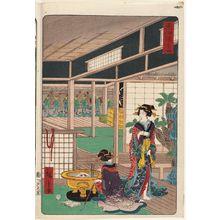 二歌川広重: Akasaka, from the series Scenes of Famous Places along the Tôkaidô Road (Tôkaidô meisho fûkei), also known as the Processional Tôkaidô (Gyôretsu Tôkaidô), here called Tôkaidô - ボストン美術館