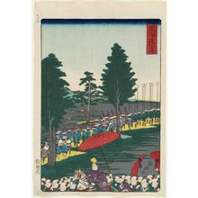 Utagawa Kuniteru: Fukuroi, from the series Scenes of Famous Places along the Tôkaidô Road (Tôkaidô meisho fûkei), also known as the Processional Tôkaidô (Gyôretsu Tôkaidô), here called Tôkaidô - Museum of Fine Arts