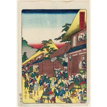 歌川国輝: Ejiri, from the series Scenes of Famous Places along the Tôkaidô Road (Tôkaidô meisho fûkei), also known as the Processional Tôkaidô (Gyôretsu Tôkaidô), here called Tôkaidô - ボストン美術館