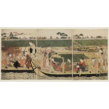 Hosoda Eishi: Fishing and Boating on the Sumida River - Museum of Fine Arts
