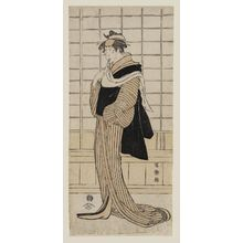 Toshusai Sharaku: Actor Osagawa Tsuneyo II as the Hairdresser Oroku - Museum of Fine Arts
