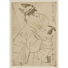 Kitagawa Utamaro: Act VII (Shichidanme), from the series The Storehouse of Loyal Retainers (Chûshingura) - Museum of Fine Arts