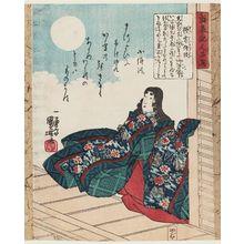 歌川国芳: Matsuyoi no Jijû, from the series Characters from the Chronicle of the Rise and Fall of the Minamoto and Taira Clans (Seisuiki jinpin sen) - ボストン美術館