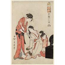 Kitagawa Utamaro: The Hour of the Horse (Uma no koku), from the series The Twelve Hours in the Yoshiwara (Seirô jûni toki tsuzuki) - Museum of Fine Arts
