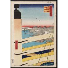 歌川広重: Nihonbashi Bridge and Edobashi Bridge (Nihonbashi Edobashi), from the series One Hundred Famous Views of Edo (Meisho Edo hyakkei) - ボストン美術館