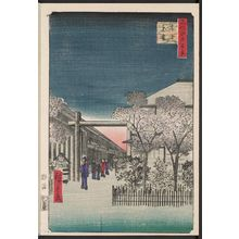 Utagawa Hiroshige: Dawn inside the Yoshiwara (Kakuchû shinonome), from the series One Hundred Famous Views of Edo (Meisho Edo hyakkei) - Museum of Fine Arts