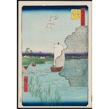 Utagawa Hiroshige: Scattered Pines, Tone River (Tonegawa Barabara-matsu), from the series One Hundred Famous Views of Edo (Meisho Edo hyakkei) - Museum of Fine Arts