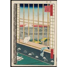 Utagawa Hiroshige: Asakusa Ricefields and Torinomachi Festival (Askusa tanbo Torinomachi môde), from the series One Hundred Famous Views of Edo (Meisho Edo hyakkei) - Museum of Fine Arts