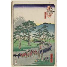 Utagawa Yoshimori: Fujisawa, from the series Fifty-three Stations of the Fan [of the Tôkaidô Road] (Suehiro gojûsan tsugi) - ボストン美術館