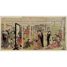 喜多川歌麿: Santô Kyôden at a Daimyô's Mansion - ボストン美術館