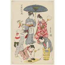 鳥居清長: Tanabata, from the series Precious Children's Games of the Five Festivals (Kodakara gosetsu asobi) - ボストン美術館