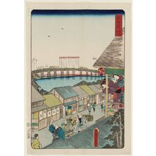 歌川国貞: Yoshida, No. 2 (Yoshida sono ni), from the series Scenes of Famous Places along the Tôkaidô Road (Tôkaidô meisho fûkei), also known as the Processional Tôkaidô (Gyôretsu Tôkaidô), here called Tôkaidô - ボストン美術館