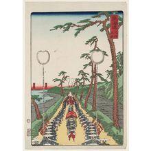 歌川貞秀: Namamugi, from the series Scenes of Famous Places along the Tôkaidô Road (Tôkaidô meisho fûkei), also known as the Processional Tôkaidô (Gyôretsu Tôkaidô), here called Tôkaidô no uchi - ボストン美術館