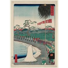 二歌川広重: Suzugamori, from the series Scenes of Famous Places along the Tôkaidô Road (Tôkaidô meisho fûkei), also known as the Processional Tôkaidô (Gyôretsu Tôkaidô), here called Tôkaidô - ボストン美術館