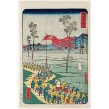 Utagawa Yoshimori: Hamamatsu, from the series Scenes of Famous Places along the Tôkaidô Road (Tôkaidô meisho fûkei), also known as the Processional Tôkaidô (Gyôretsu Tôkaidô), here called Tôkaidô - Museum of Fine Arts