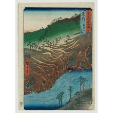 Utagawa Hiroshige: Buzen Province: The Passage Under the Rakan Monastery (Buzen, Rakan-ji shita michi), from the series Famous Places in the Sixty-odd Provinces [of Japan] ([Dai Nihon] Rokujûyoshû meisho zue) - Museum of Fine Arts